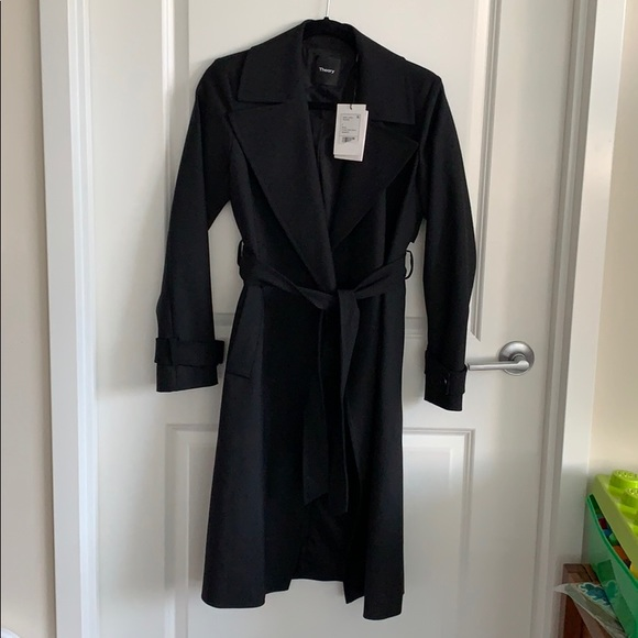 wide trench coat NWT Theory label WEIHD29